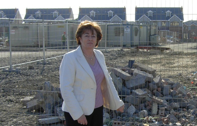 Catherine highlighting the problem of unfinished housing estates